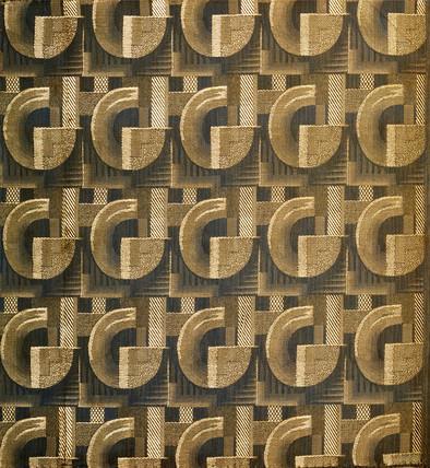 Art deco furnishing fabric by betty joel ltd for Art deco fabric