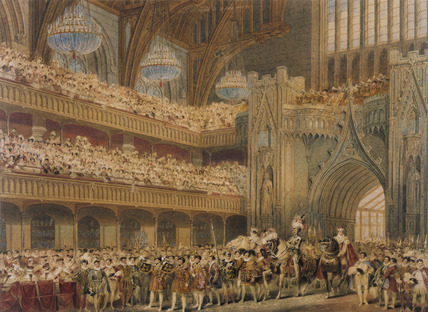 The Champion of England Entering Westminster Hall, by Charles Wild