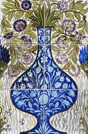 Tile panel, by William De Morgan