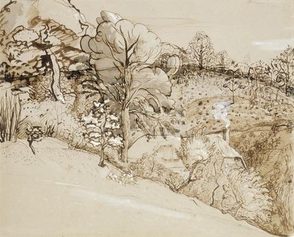 The Primitive Cottage, by Samuel Palmer
