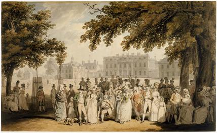 Buckingham House, St. James's Park, by Edward Dayes