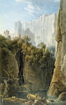 The Falls of the Ruecca Near Trieste, by Louis Franþois Cassas