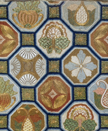 Temple altar cloth, detail