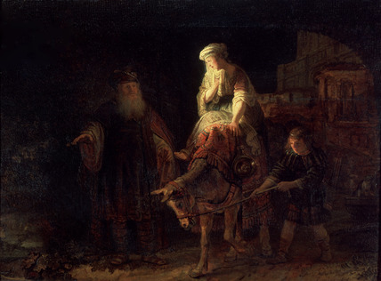 The Shunamite Woman, by Rembrandt