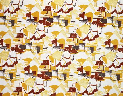 Art Deco textile design, by Pierre Chareau   memoryprints.