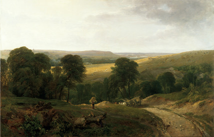 Landscape with Wagon, by Peter De Wint