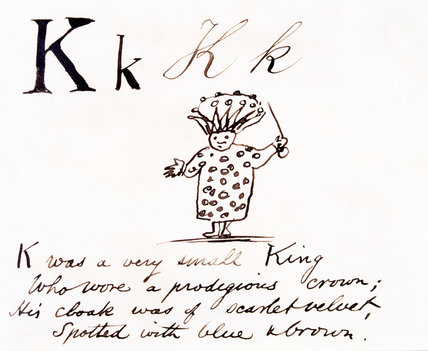 The letter K, by Edward Lear