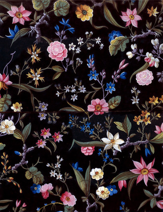 Flower fabric design, by William Kilburn