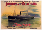 London & Edinburgh Shipping Company poster, early 20th century.