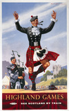 'Highland Games', BR (ScR) poster, 1948-1965.