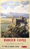 'Harlech Castle', BR (WR) poster, 1948-1965.