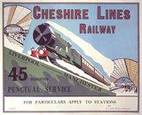 'Cheshire Lines Railway', Cheshire Lines Railway poster, c 1925.
