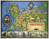 'North Wales', BR(LMR) poster, 1960.