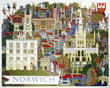 'Norwich', BR poster, c 1950s.