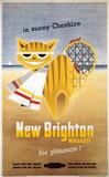 'New Brighton, Wallasey, for Pleasure!',  BR (LMR) poster, 1954.