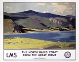 'The North Wales Coast from the Great Orme', LMS poster, 1923-1947.