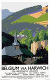 'Belgium via Harwich/Ardennes', LNER poster, 1923-1947.