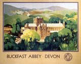 'Buckfast Abbey, Devon', GWR poster, 1923-1947.