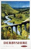 'Derbyshire', BR (LMR) poster, 1948-1965.