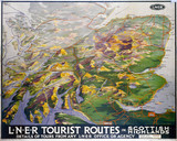 'Tourist Routes in Scottish Highlands', LNER poster, 1923-1947.