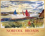 'Norfolk Broads', BR (ER) poster, 1963.