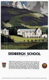 'Sedburgh School, Yorkshire', LMS poster, 1923-1947.