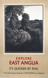 'Explore East Anglia', LNER poster, 1923-1947.