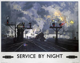 'Service by Night', BR poster, 1955.