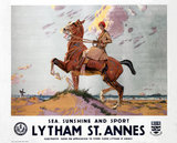 'Sea, Sunshine and Sport: Lytham St Annes', LMS poster, 1923-1947.