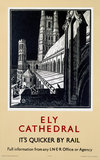 'Ely Cathedral', LNER poster, c 1940s.