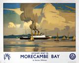 'Heysham Boat in Morecambe Bay', LMS poster, 1923-1947.
