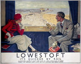 'Lowestoft', LNER/LMS poster, 1933.