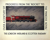 'Over a Century of Progres', LMS poster, 1933.