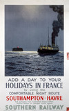 'Add a Day to your Holiday in France', SR poster, 1937.