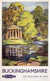 Stowe, Buckinghamshire, BR (ER) poster, c 1950s.