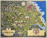 Pictorial Map of Yorkshire, BR poster, 1949.