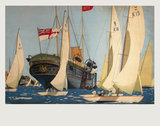 'The Royal Yacht 'Victoria and Albert'', poster artwork, c 1930s.