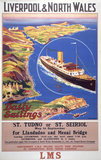 'Liverpool & North Wales', LMS poster, 1923-1947.