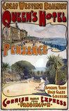 'Queen's Hotel, Penzance', GWR poster, c 1909.
