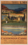 The Caledonian Canal, MacBrayne/LMS poster,