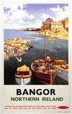 'Bangor, Northern Ireland', BR poster, 1955.