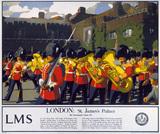 'London - St James's Palace', LMS poster, 1923-1947.