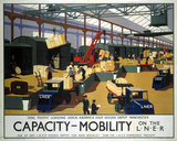 'Capacity/Mobility on the LNER', LNER poster, 1933.