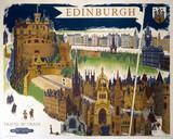 'Edinburgh', BR (ScR) poster, 1948-1965.