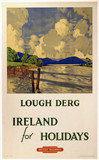 'Ireland for Holidays - Lough Derg', BR(LMR) poster, 1949.