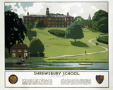 'Shrewsbury School', LMS poster, 1938.