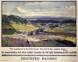'To Hampshire and the New Forest Quickly', SR poster, 1938.