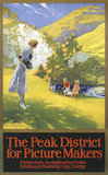 'The Peak District for Picture Makers', MR poster, 1930s.