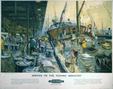 'Service to the Fishing Industry', BR poster, c 1960.