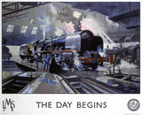 'The Day Begins', LMS poster, 1946.